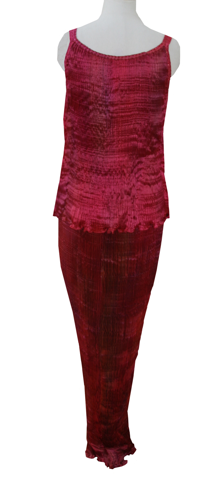 Two Piece in pleated silk-6156