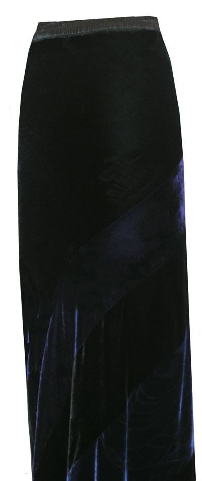Bias cut skirt in rich tones