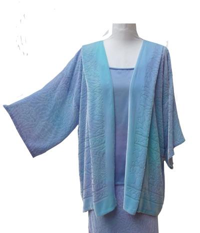 Slim Bias Skirt & Vest Tabard Top & Mindy Jacket-3426