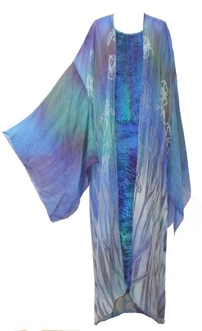 Long fine silk Kimono-4392