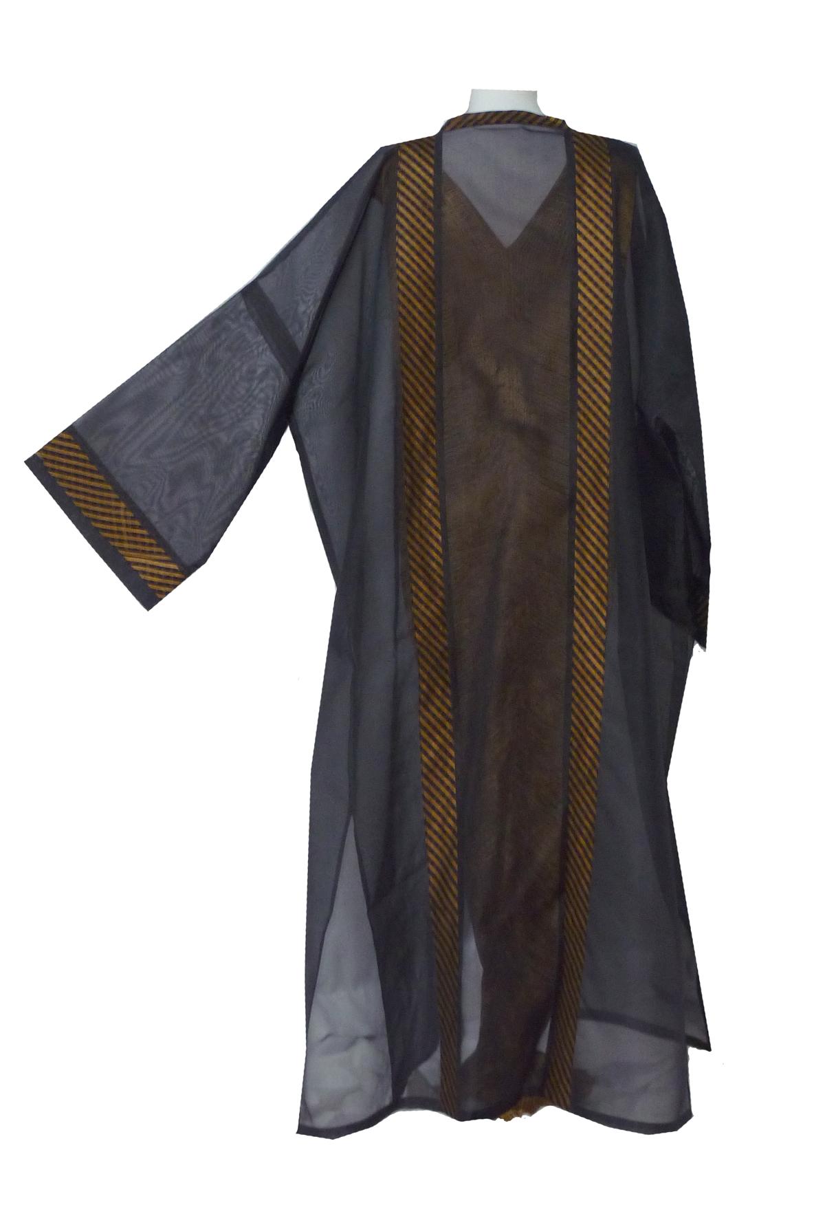 Grand Black Organza Kimono-4968