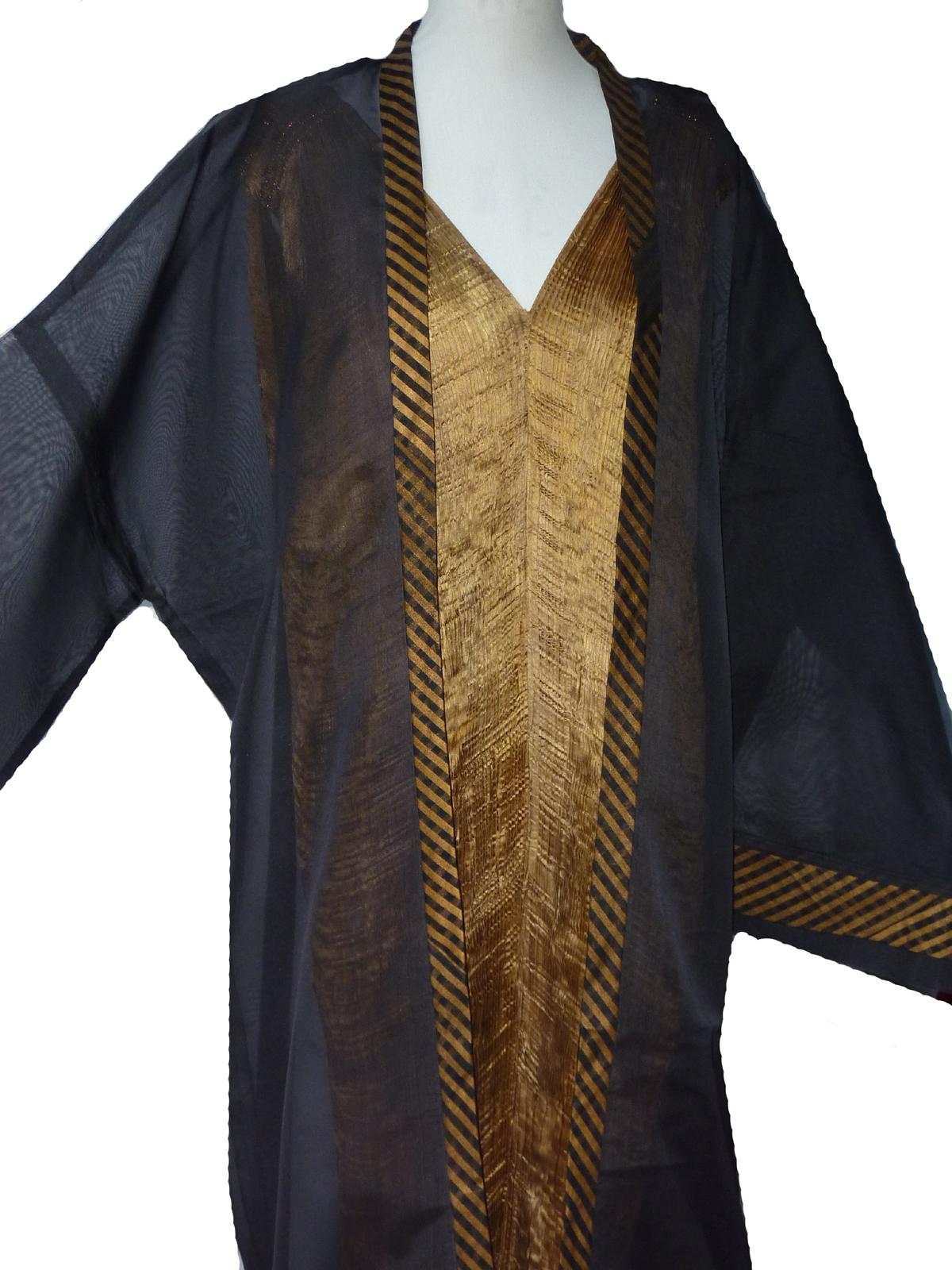 Grand Black Organza Kimono-4969