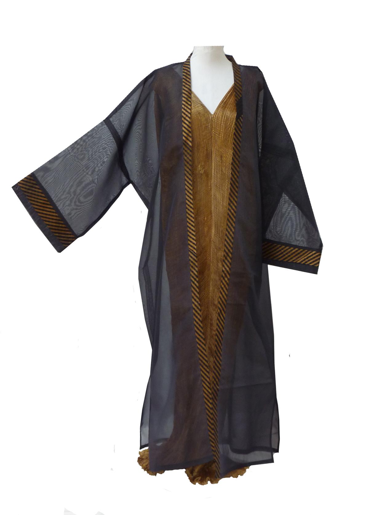 Grand Black Organza Kimono-4972