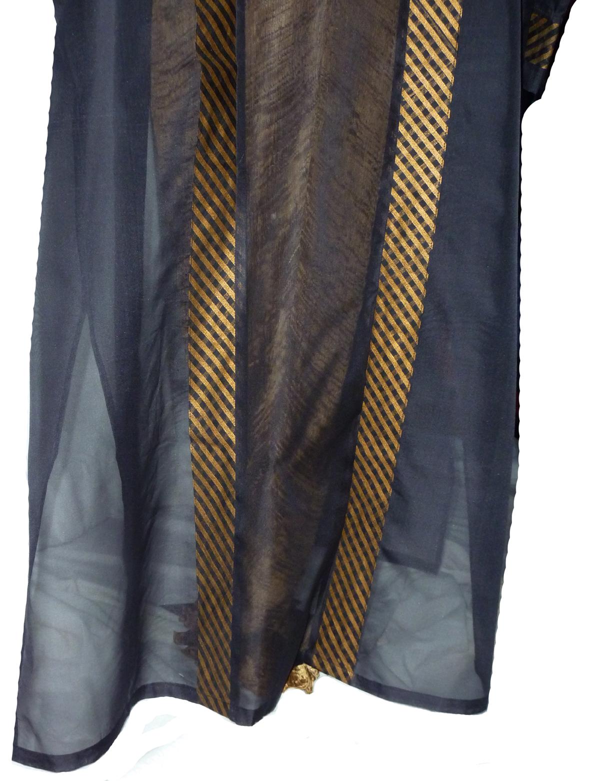 Grand Black Organza Kimono-4971