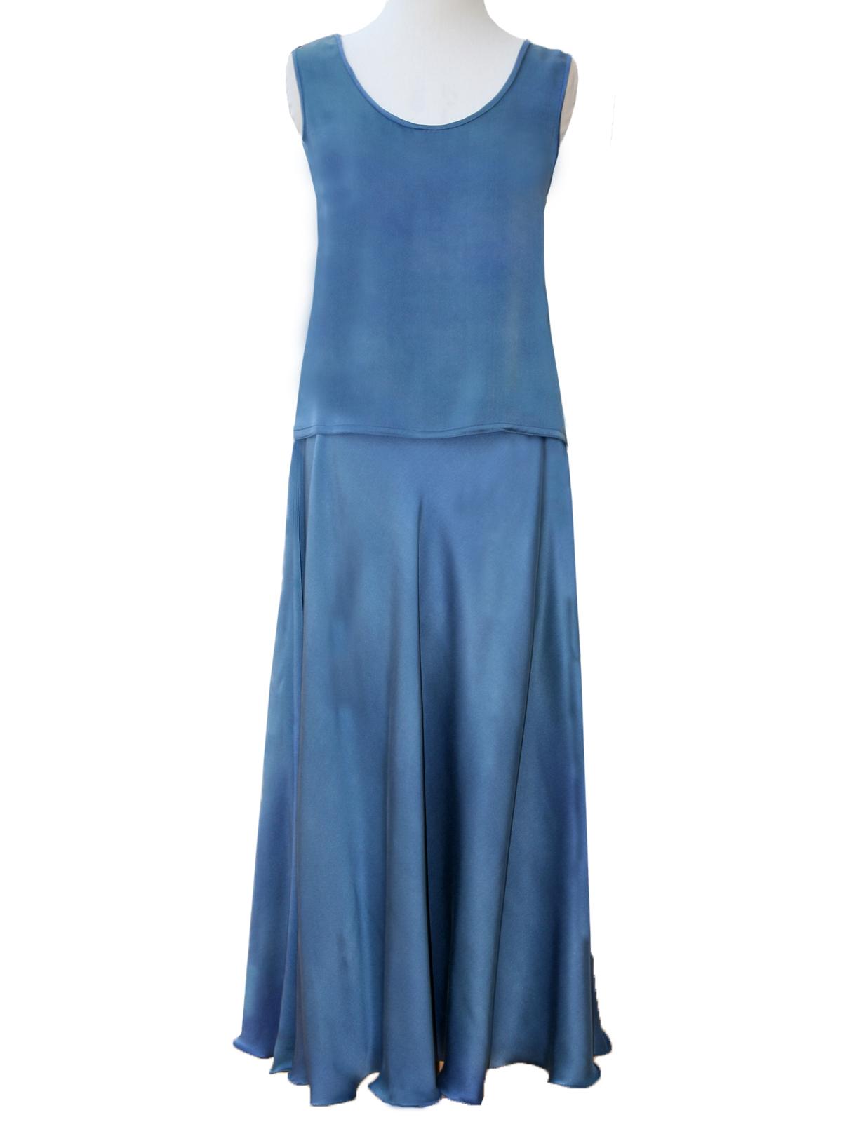 Vest Tabard Top & Bias Skirt -6621