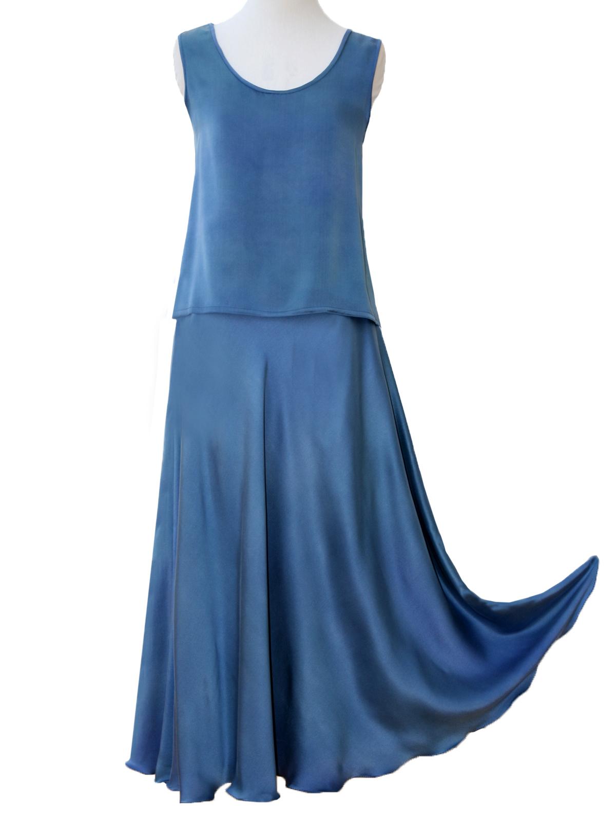 Vest Tabard Top & Bias Skirt -6624