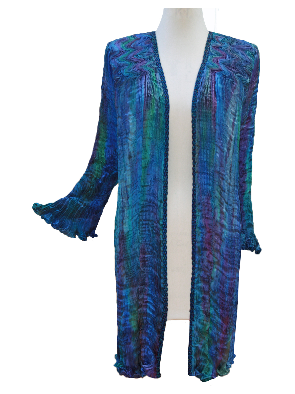 Turquoise & Blue Venice Coat -6465
