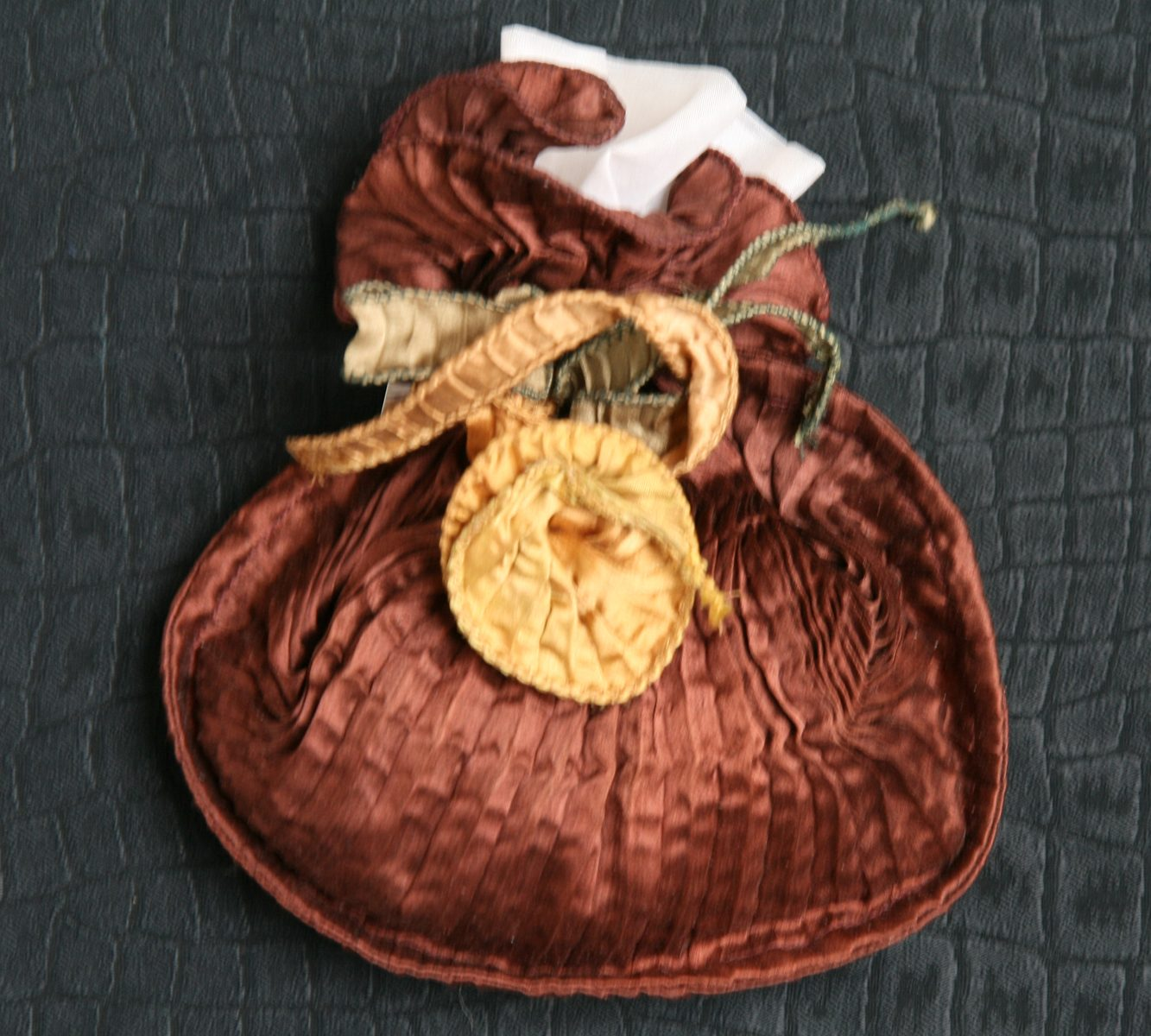 Pleated silk lavender bag-6350
