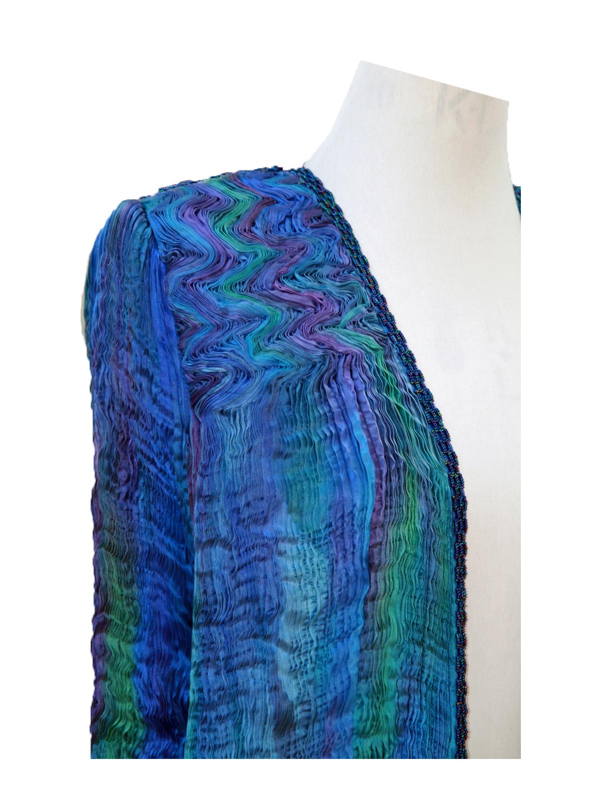 Turquoise & Blue Venice Coat -6468