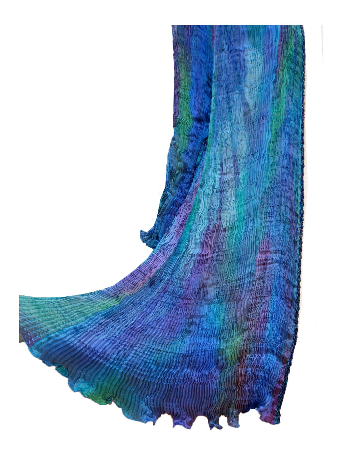 Turquoise & Blue Venice Coat -6466