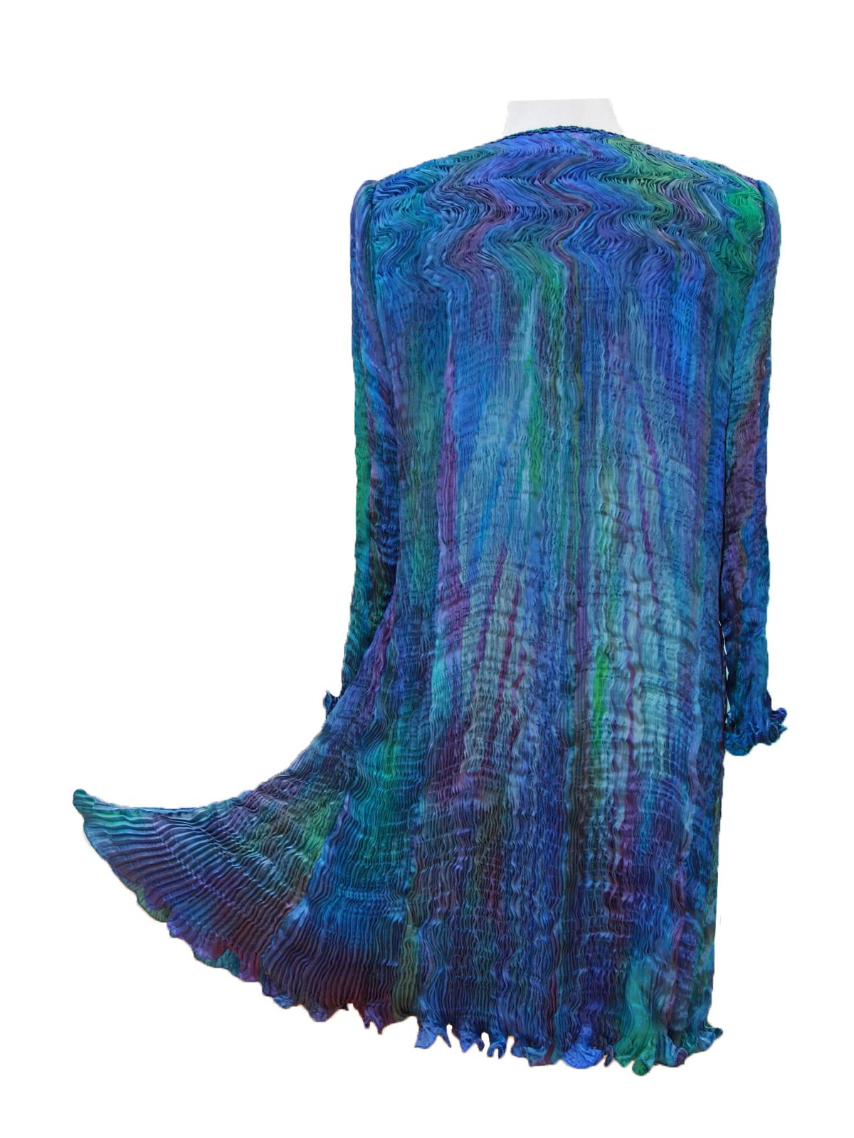 Turquoise & Blue Venice Coat -6467