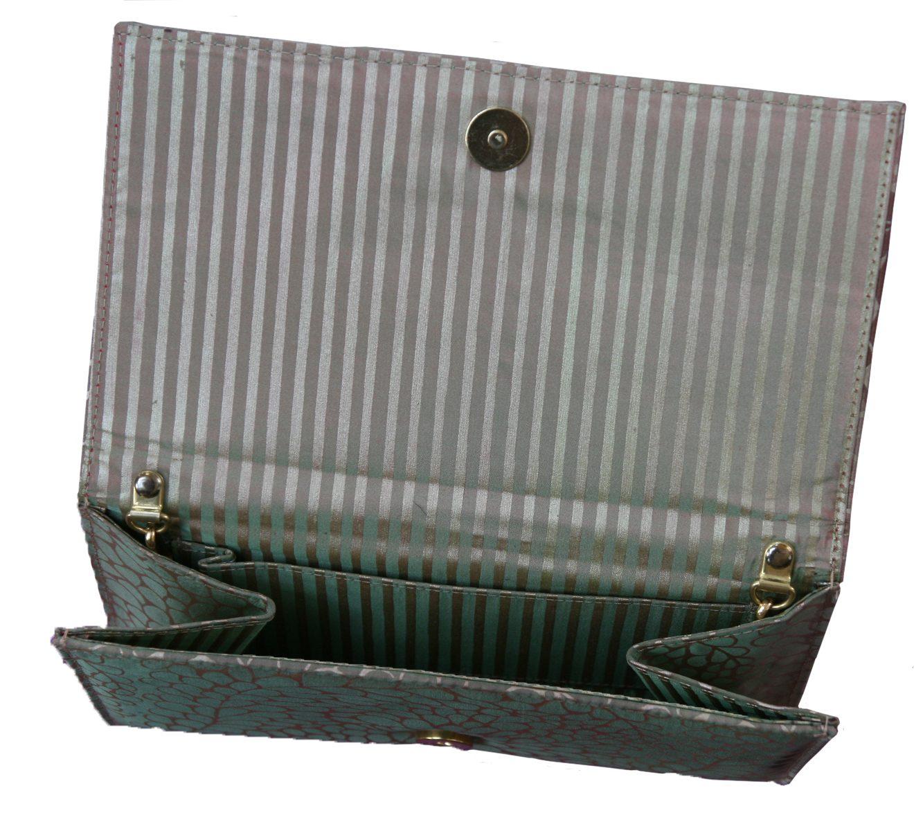 Taffeta silk evening clutch-6485
