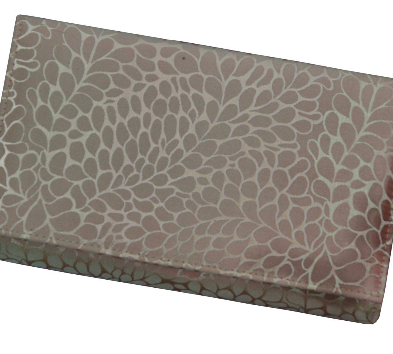 Taffeta silk evening clutch-6488