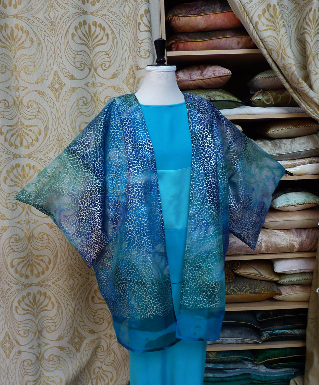 Silk oganza Marbled hapi jacket-6955