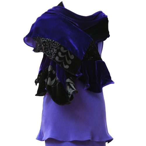 Tube Scarf in Black and Icon Purple