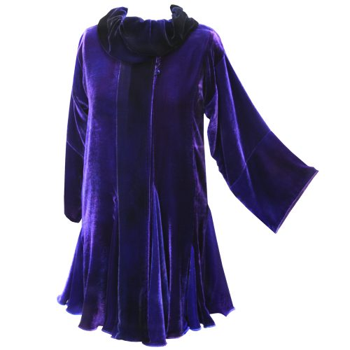 Cora Coat in Lapis Purple