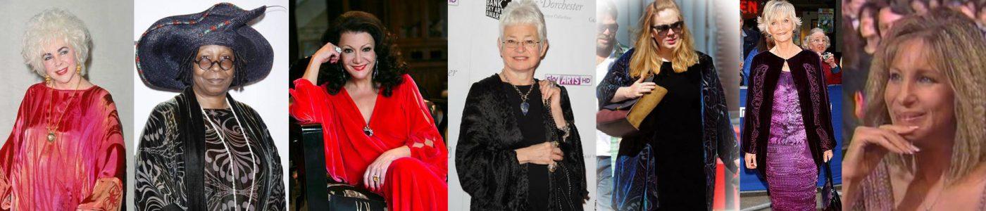 Elizabeth Taylor, Whoopi Goldberg, Irina Maleeva, Jacqueline Wilson, Adele, Sheila Hancock, Barbra Streisand
