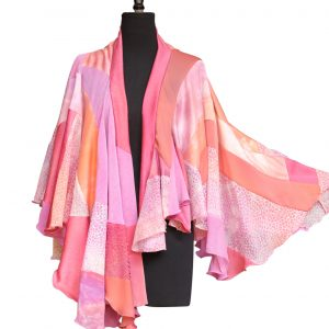 Gypsy Shawl in mixed pinks