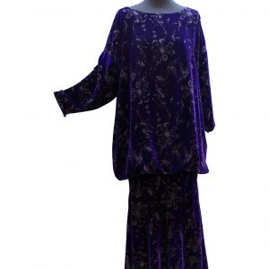 Zelda Dress in Lapis Purple