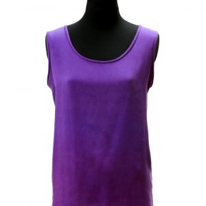 Vest Tabard Top in Emperor Purple Silk Crepe Back Satin