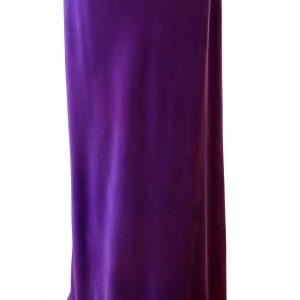 Slim Bias Skirt in Emperor Purple Crepe Back Satin