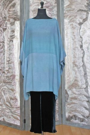 Silk Noile Overblouse in Leighton Blue