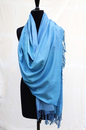 Pashmina Shawl in Soft Enamel Blue