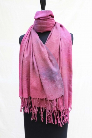 Pashmina Shawl in Damson Blush