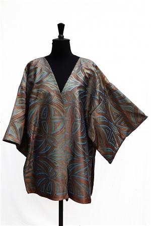 Aneko Jacket Cotton/Viscose Satin – Tibetan Gold